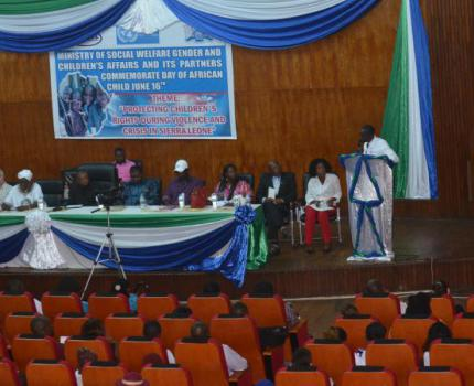 DAC in Sierra Leone: ''Protecting children's Rights during Violence and Crisis in Sierra Leone''